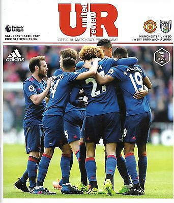 MANCHESTER UNITED v WEST BROMWICH ALBION Premier League 2016/17 MINT