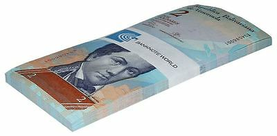 Venezuela 2 Bolivares X 50 Pieces (PCS), 2007-17, P-88, UNC, Half Bundle, Pack