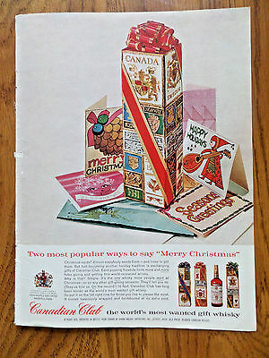 1962 Canadian Club Whiskey Ad Two Most Popular Ways to Say Merry Christmas