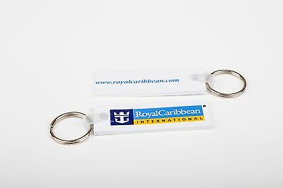 TWO NEW Royal Caribbean International with Logo Flexible Key Chains / Rings