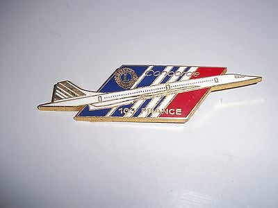 ancienne broche insigne emaillée  avion concorde air france 105 lions club