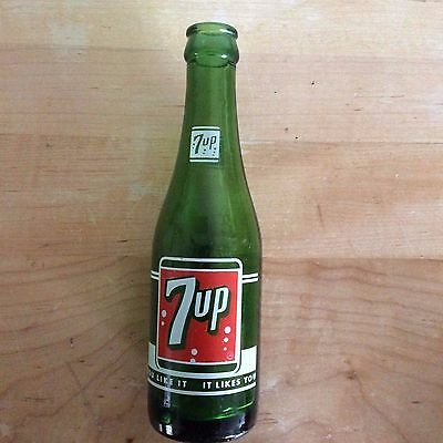 Vintage Seven Up  7 oz. bottle, from Mitchell, SD