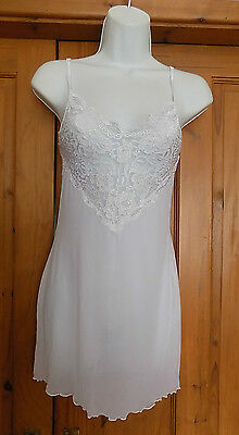 white chemise nightie with matching thong   extra small   **** last one ****