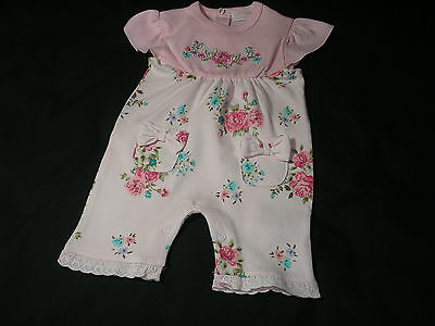 Baby Girls Clothes floral Romper Suit All in one cotton Pink 0-9 months