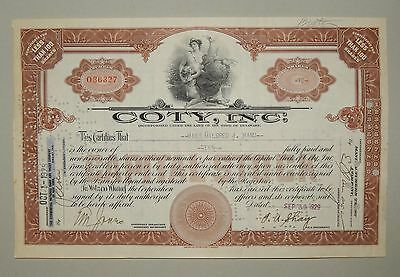 """Coty International Corporation"" 100 Shares 1929 - common stock - Aktie"