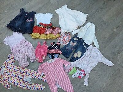 Lovely Bundle Of Baby Girls Clothes Aged 6-9 Months