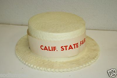 Vintage Mid Century Styrofoam Barber Shop Quartet California State Fair HAT