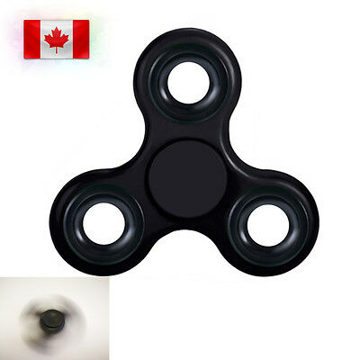 Fidget Spinner EDC Stress Relief Focus Hand Finger Toy For Kids Adults DarkBlack