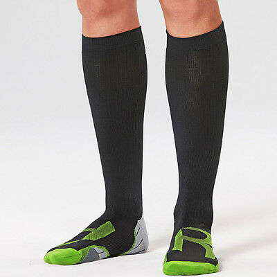 2XU Recovery Womens Black Compression Training Running Socklet Socks