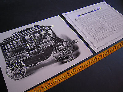 "Antique Cretors Popcorn Wagon 2 Print Set - Improved Special Model ""C"""