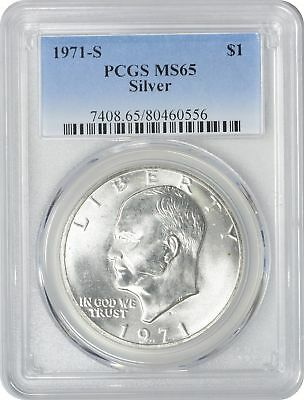 1971-S Silver Eisenhower Dollar Ike MS65 PCGS 65 Mint State