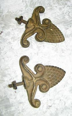 Two cast iron finials Fence, Pole, Gate, Hardware