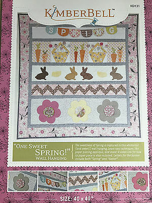 One Sweet Spring/easter Wall Quilt Applique Pattern By Kimberbell Usa