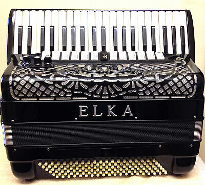 Elka-Piano Accordion + Built In Midi-41/120~4V/13R-5V/5R-In:very Good Condition!