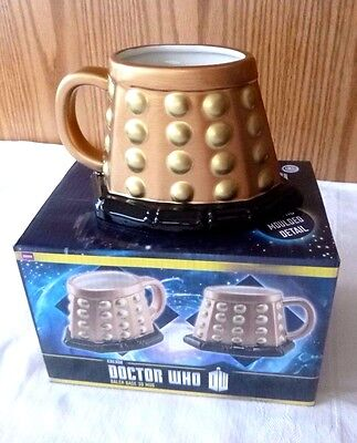 clearance priced authentic doctor who sculptured 3d dalek coffee