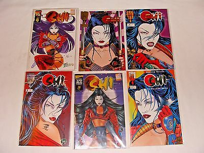 Huge LOT of 55 Shi: The Way of the Warrior #1-12 Signed by Creator Billy Tucci