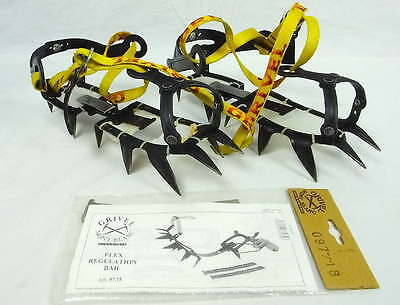 Grivel Strap on Crampons USED + Mont Blanc Flex Regulation Bar NEW