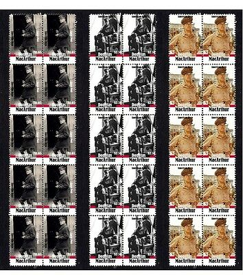 DOUGLAS MacARTHUR WWII GENERAL SET OF 3 MINT STAMPS 2
