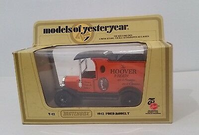 1912 Model T Ford HOOVER vacuum cleaners Y12 Models of Yesterday Matchbox Lesney