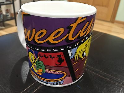 "Vintage 1995 Looney Tunes Tweety Bird 4"" Coffee Mug 90s"