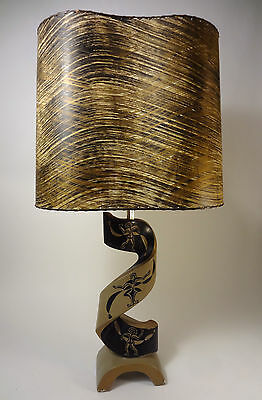 Vtg RETRO Mcm 1950s EAMES Majestic Era FAIP Art Studio POTTERY Atomic Table LAMP