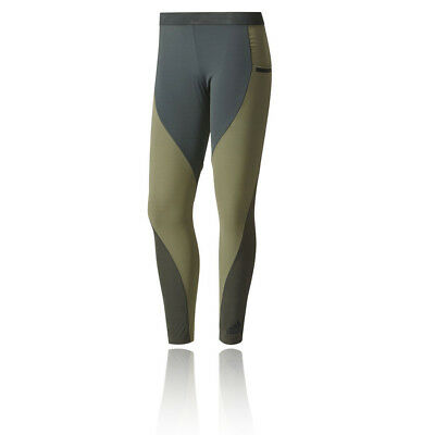 Adidas Core Chill Womens Green Compression Training Long Tights Bottoms Pants