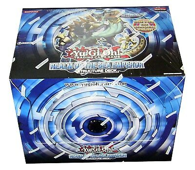 Yu-Gi-Oh Realm Of The Sea Emperor Structure Decks Sealed Box of 8 Decks