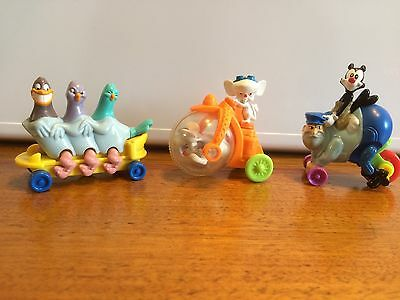 Warner Bros Animaniacs Collector Meal Toys x 3 (1993) Pinky & The Brain, Etc