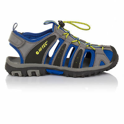 Hi-Tec Cove Junior Boys Grey Outdoors Walking Hiking Sandals Summer Shoes