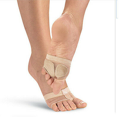 Nude Footundeez Ballet Dance Gym Lyrical Foot Thong Women's Dance Shoes