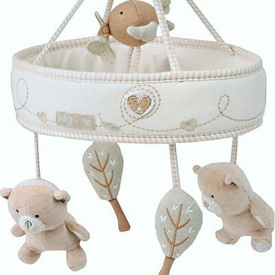 NEW Natures Purest Organic Hug Me Bear Musical Mobile