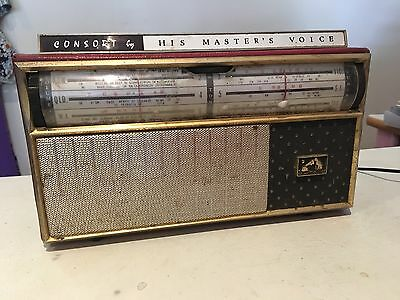 Vintage CONSORT by HIS MASTER'S VOICE TRANSISTOR RADIO / Electric