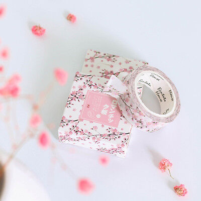 Cherry Donut Watercolor Flowers Decorative Washi Masking Tape DIY Scrapbooking