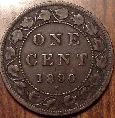 1890H Canada Large 1 Cent In Good Condition