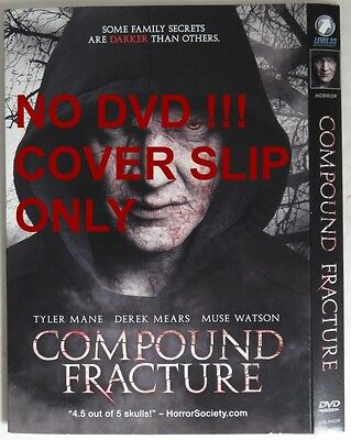 No Discs !! Compound Fracture Dvd Cover Slip Only - No Discs !!     (Inv13466)