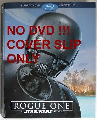 No Discs !! Rogue One Exclusive Blu-Ray Cover Slip Only - No Discs !! (Inv13467)