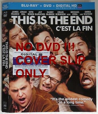 No Discs !! This Is The End Blu-Ray Cover Slip Only - No Discs !!     (Inv13483)