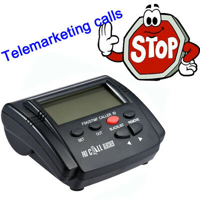 CT-CID803 Caller ID Box Blocker Reject Nuisance Call LCD Screen Display Landline