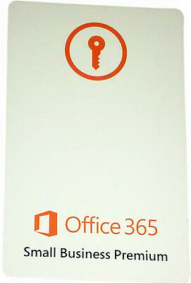 Microsoft Office 365 Small Business Premium - 1Yr/1User Subscription
