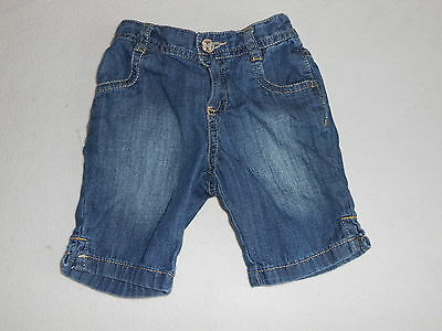 Baby Girls Clothes  3-6 Months -Cute 3/4 Jeans Trousers