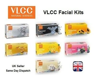NEW VLCC Facial Kit Toner Cleanser Scrub Massage Pack Moisturiser Cream Salon