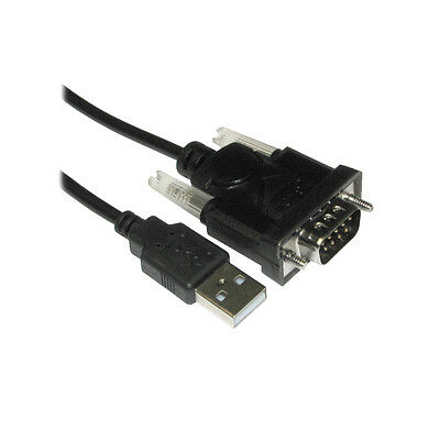 Serial DB9 9 Pin RS232 RS-232 to USB Adaptor Convertor Cable Lead Wire