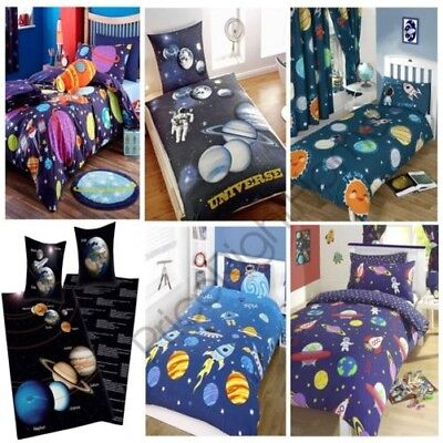 Space Single Double Junior Duvet Cover Various Designs Kids Bedding New