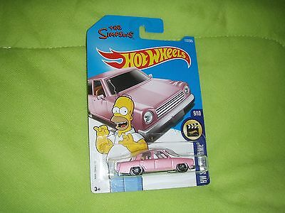 Hot Wheels New 2017 Simpson Pink Car Movie Time long card