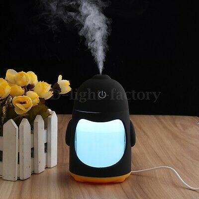 Portable Mini USB Humidifier Air Purifier Aroma Diffuser LED Colourful