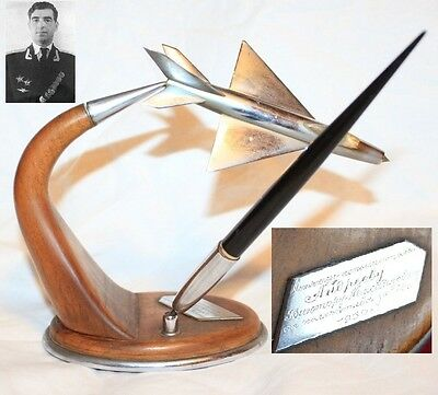 Model military FIGHTER aircraft plane Russian USSR award Andreev test pilot