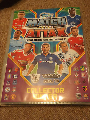 Match Attax Trading Cards Complete Album 2015 2016 Inc 100 Club, Limited Edition