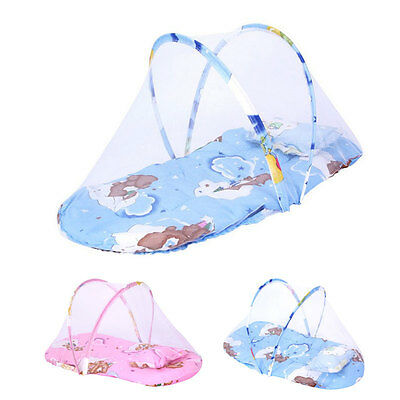 Foldable Toddler Baby Tent Bed Crib Cops Up Travel Sleep Mattress Mosquito Net