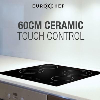 6200W 600mm Ceramic Electric 4 Cooking Zones Hot Plates Cooktop Kitchen Stove