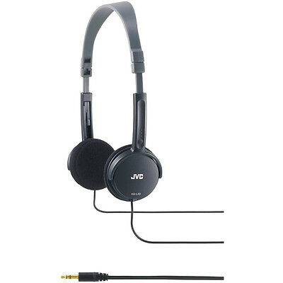 JVC HAL50B Foldable Light Weight Stereo Headphones - Black